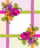 Vector fancy floral banner Royalty Free Stock Images