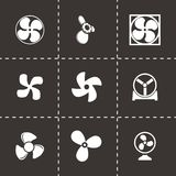 Vector fans and propellers icons set Stock Images