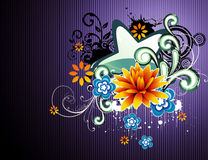 Vector fantasy flower illustration Stock Photography