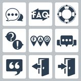 Vector faq/info icons set Royalty Free Stock Photos