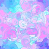 Vector Farbabstraktes von Hand gezeichnetes Muster mit Wellen und Wolken I vektor abbildung