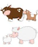Vector farm animals Royalty Free Stock Image