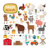 Vector farm animals Royalty Free Stock Photography