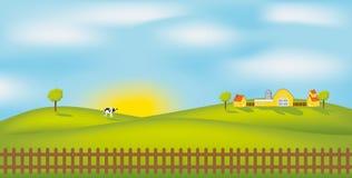 Vector Farm Royalty Free Stock Photo