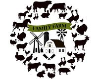 Vector farm and farming icons and design elements. Farm animals collection. vector illustration