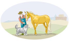 Vector farm illustration Royalty Free Stock Images