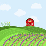 Vector Farm Themed Background Royalty Free Stock Image