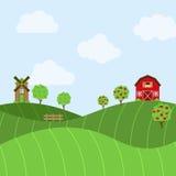 Vector Farm Themed Background Stock Photos