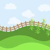 Vector Farm Themed Background. Or Landscape Royalty Free Stock Images