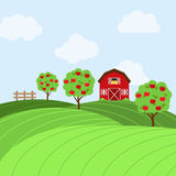 Vector Farm Themed Background Royalty Free Stock Photos