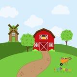 Vector Farm Themed Background Royalty Free Stock Photo