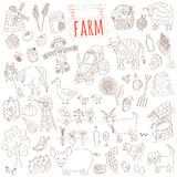 Vector farm themed doodle set Stock Photography