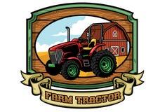 Farm tractor sign Stock Photo
