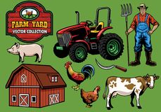 Farming yard collection Stock Photography