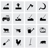 Vector farming icon set Stock Photos