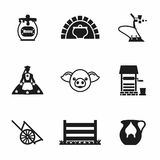 Vector Farming icon set Stock Photo