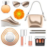 Vector Fashion Accessories Set 6. Isolated on white background Stock Images