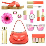 Vector Fashion Accessories Set 7 Stock Photos