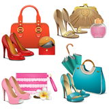 Vector Fashion Accessories Set Royalty Free Stock Photos