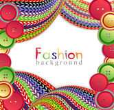 Vector fashion background with knitting Stock Image