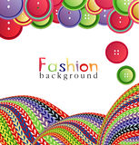 Vector fashion background with knitting Stock Photography