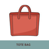 Vector fashion bag isolated on white Royalty Free Stock Image