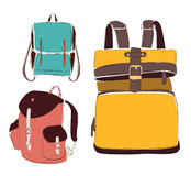 Vector fashion bags set Stock Image