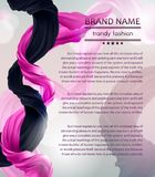 Vector fashion banner with flying silk fabric stock illustration
