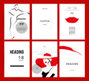 Vector fashion cards template. Royalty Free Stock Photo