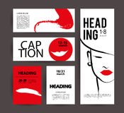 Vector fashion cards template. Stock Photography