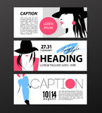 Vector fashion cards template. Royalty Free Stock Images