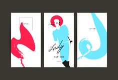 Vector fashion cards template. stock illustration