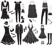 Vector fashion clothes Royalty Free Stock Image