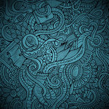 Vector fashion decorative doodles background Royalty Free Stock Photos