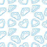 Vector fashion diamond seamless background Stock Image