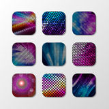 Vector Fashion Disco Icon. Abstract geometric Disco icon. Stock Photo