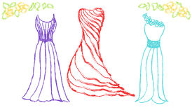 Vector fashion dresses Royalty Free Stock Images