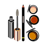 Vector fashion female makeup design glamour brush care. Vector fashion female makeup design glamour brush Royalty Free Stock Photography