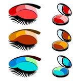 Vector fashion female makeup design glamour brush care. Vector fashion female makeup design glamour brush Stock Photo