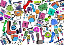 Vector fashion female makeup shoes bags Stock Photo