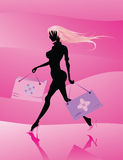 Vector fashion girl Royalty Free Stock Image