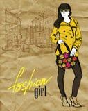 Vector fashion girl Stock Photo