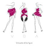 Vector Fashion Model Silhouette. Vector fashion model. Sketch silhouette figure. Hand draw model. Vector fashion style Stock Illustration