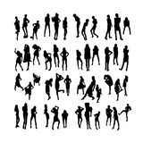 Vector Fashion Model Silhouettes. Part 4. Stock Photos