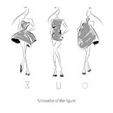 Vector Fashion Model. Sketch silhouette figure. Hand draw model. Vector fashion style Royalty Free Illustration