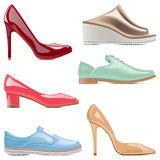 Vector Fashion Shoes Royalty Free Stock Images