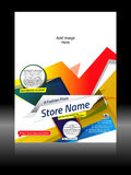 Vector Fashion Store Flyer Royalty Free Stock Images