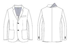 Technical sketch of man jacket with patch pockets -. Vector fashion technical sketch of man jacket with patch pockets Stock Photography
