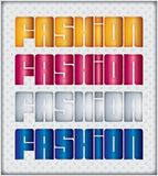Vector fashion word Royalty Free Stock Photos