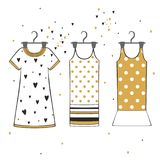 Vector beautiful clothes Stock Images